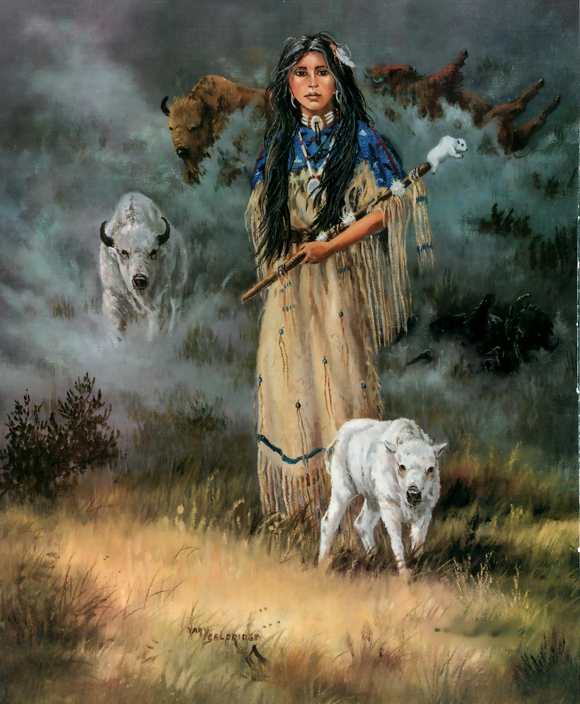 a legend of the holy woman pte ska win in the lakota tribe White buffalo calf woman (lakota: pte ska win / pteskawin / ptesanwi) is a sacred woman of supernatural origin, central to the lakota religion as the primary cultural .